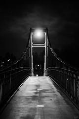 Bridge at Night (johaennesy) Tags: passau bavaria bayern germany night nightphotography opensourcesoftware gimp rawtherapee monochrome blackandwhite schwarzweis nacht bridge pentaxian simple simplistic