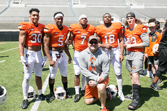 Image Taken at the Oklahoma State Cowboys Spring Football Game, Saturday, April 28, 2018, Boone Pickens Stadium, Stillwater, OK. Melissa Morales/OSU Athletics (OSUAthletics) Tags: 2017 osu oklahomastateuniversity pokes cowboys football oklahomastate oklahomastatecowboys springgame
