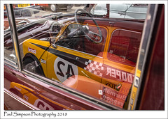 Window Reflections (Paul Simpson Photography) Tags: cars car paulsimpsonphotography imagesof transport imageof photoof photosof mini minicooper morristraveller refelections reflection yellowmini carphotography carshow transportshow