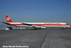Air Canada Cargo DC-8-63PF C-FTIK (planepixbyrob) Tags: air canada mcdonnelldouglas douglas dc8 cftik yvr vancouver vancity kodachrome cargo