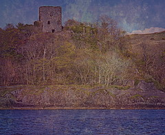 Dunollie Castle (Rollingstone1) Tags: dunolliecastle dunollie oban scotland clan tower rock outcrop fortress castle clanmacdougall medieval sea hill sky trees hillside tree grass building water history historical