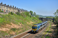 Yorkshire Stone Terrace (whosoever2) Tags: uk united kingdom gb great britain england nikon d7100 train railway railroad may 2018 tpe transpennine class185 185115 1f85 marsden yorkshire terrace house sun sunshine dmu scarborough liverpool