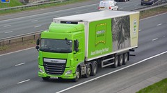 MX16 FGJ (panmanstan) Tags: daf xf wagon truck lorry commercial freight transport haulage vehicle a1m fairburn yorkshire
