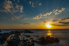 Shine (dayonkaede) Tags: shine solar ocean rock nature landscape cloud sunset sea wind wave sunny nikon d750 200mm f18