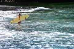 Good surf day (thomasgorman1) Tags: tide surfing surfer woman surfboard nikon water sea ocean shore coast island honolii hilo hamakua waves watersports