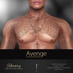 Bead by Bead... ([Avenge]) Tags: avenge avengeaccessories originalmesh rosarynecklace mom menonlymonthly malenecklace