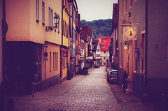 Moody street scenery (DrQ_Emilian) Tags: urban exploration explore street scenery city cityscape town oldtown buildings architecture fachwerkhaus outdoors travel visit discover light colors details esslingen stuttgart badenwürttemberg germany photography hobby