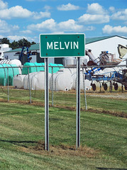 OH Melvin - Sign (scottamus) Tags: melvin ohio clintoncounty sign town village odd strange unusual weird roadsideattraction