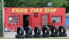 Tiger Tire Shop (Gene Ellison) Tags: tireshop tires jacks building wheels
