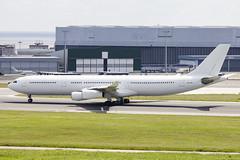 9H-SUN | Hi Fly Malta | Airbus A340-313 | CN 367 | Built 2000 | LIS/LPPT 01/05/2018 | ex 4R-ADE, F-GTUA (Mick Planespotter) Tags: aircraft airport lisbon a340 9hsun hi fly malta airbus a340313 367 2000 lis lppt 01052018 4rade fgtua white humbertodelgado