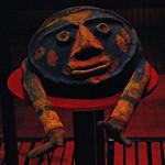 12 - Paris, Musée du Quai Branly -  Masque-coiffe, Début du 20ème siècle - Fougère arborescente, pâte végétale, pigments -  Vanuatu, sud de l'île Malekula thumbnail