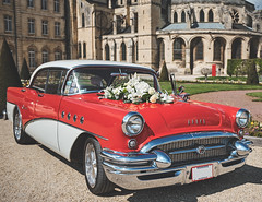 Buick Century (Simon BOISVINET) Tags: car buick century photography x100f fujifilm caen normandie abbayeauxhommes voiture sun wedding vintage chrome red flowers tennessee nashville