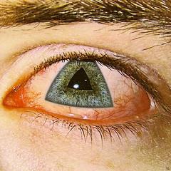 te (woodcum) Tags: eye triangle iris grain photomanipulation surreal color