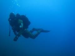Ultimate blue (CZDiver) Tags: lake underwater scubagear scubadiving scubadiver divinggear doublehosescubaregulator aqualungmistral rubberdrysuit drysuitdiving scuba drysuit diving