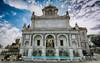 La Fontana dell'Acqua Paola (jorgerojas14) Tags: fuente trastevere agua roma italia nubes atardecer motos