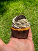 Oreo Cupcake (marcoverch) Tags: köln nordrheinwestfalen deutschland de food lebensmittel noperson keineperson sweet süss closeup nahansicht desktop wood holz chocolate schokolade nature natur cake kuchen confection konfekt color farbe little wenig refreshment erfrischung garden garten sugar zucker outdoors drausen environment umgebung flora delicious köstlich cup tasse candid bench pose 7dwf day downtown wasser coth5 naturephotography