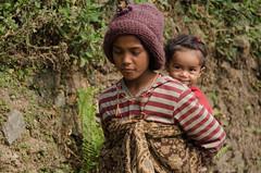 Naughty (sakthi vinodhini) Tags: kids children nepal trek backpack