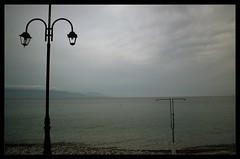 The Details : Imitate (Storyteller.....) Tags: details sea lamp shower imitate sky beach blue gray horizon