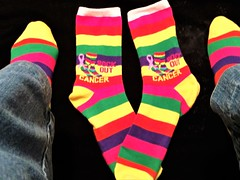 ME AND MY COLORFUL CANCER SOCKS (Visual Images1 (Thanks for over 5 million views)) Tags: socks colorful cancer sockoutcancer 2018onephotoeachday