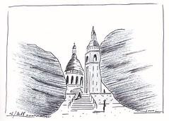 Petit croquis de Montmartre (J-M.I) Tags: croquis