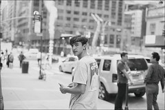 Federico (Steve Lundqvist) Tags: new york usa states united america manhattan stati uniti travel trip viaggio model urban city urbanscape portrait ny nyc persone ritratto ambient light fashion moda mood attractive beauty boy ragazzo fujifilm x100s streetphotography sportwear streetwear kid path