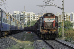 ET ALCO Twins with BCNA Rake at HFZ (cyberdoctorind) Tags: ifttt 500px sbc raj et twins railroad track infrastructure car train intersection railway first avenue freight passenger way forward ettwins sbcraj