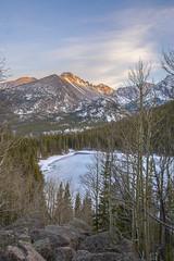 Bear Lake Winter (Aaron Spong Fine Art) Tags: series four seasons 4 rmnp rocky moutnain natioanl park colorado bear lake longs peak moutnains