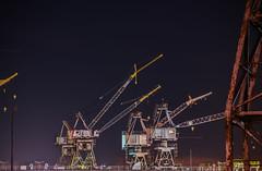 american crane (pbo31) Tags: bayarea california nikon d810 color may 2018 spring boury pbo31 sanfrancisco night dark black city urban missionbay crane port industrial drydock 33 35