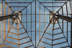 Light and Shade (ARTUS8) Tags: symmetrie nikon28300mmf3556 abstrakt fenster flickr linien öffentlichesgebäude nikond800 lookingup dach glas