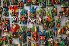 Colorful Costa Rica (Jill Clardy) Tags: 2018 cruise ncl norwegiancruiselines repositioning costa rica native masks souvenir shop shopping colorful color 201804189l8a2812 365the2018edition 3652018 day108365 18apr18