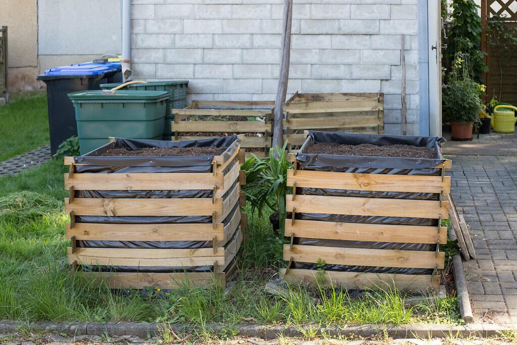 Beton Komposter Hochbeet Aus Paletten Schnell With Beton Komposter