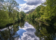 Reflections at Betws-y-Coed (Brian The Euphonium) Tags: reflection betwsycoed northwales river water trees pentaxk20d pentaxlens nik welshflickrcymru landscape wales smcpentaxda1855mm