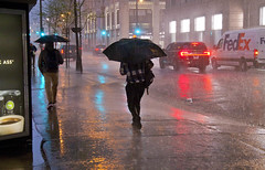 Heavy Thunderstorm and Downpour Downtown Chicago Illinois 5-14-18  1496 (www.cemillerphotography.com) Tags: rain flood torrential cloudburst theloop pedestrians traffic westadamsstreet wet soaked drenched soggy umbrellas puddles jumper rushhour commuter