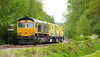 GBRf Class 66/7 no 66744 at Boughton (Nottinghamshire) on 16-05-2018 (kevaruka) Tags: boughton nottinghamshire wellow may 2018 spring colour colours color colors gbrf class66 66789 britishrail networkrail testtrain testtrack edwinstowe eastmidlands england countryside yellow blue green trains train railway rail transport clouds cloudy cloudyday cloud trees canon canoneos5dmk3 canon5dmk3 canon70200f28ismk2 5d3 5diii 5d 5dmk3 locomotive shed coal robinhood 66744