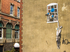 Bristol Well Hung Lover Banksy (PDKImages) Tags: bristol bristolstreetart street art urban banksy ukstreetart cityscene scene