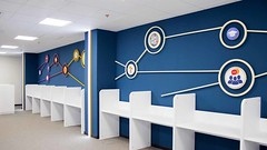 Plastic signs for interior use (frontsignsllc) Tags: frontsigns office officedecor design decoration flic flickr la california wall blue colors beautiful