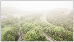 A Misty Start (SOOC) (Father Pie) Tags: mist dji djimavicpro drone aerial elland canal trees