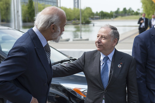 HRH Prince Michael of Kent welcoming Jean Todt