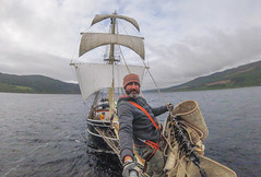 The Lady of Avenel ☠️ (Andy.Gocher) Tags: ☠️ andygocher gopro session selfie sails sailing tall ship the lady avenel theladyofavenel scotland lock ness boat water thegreatglen thecaledoniacanal pirate