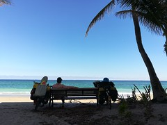We stopped at a nice little spot for lunch while cycling from Ft. Lauderdale to Miami.