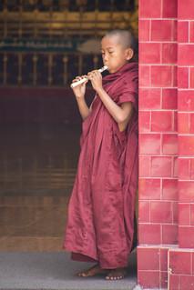 Novice Monk - Mahamuni Temple - Mandalay - Myanmar