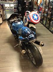 Captain America motorcycle (splinky9000) Tags: woodbridge heroes marvel comics captain america motorcycle chopper bike ontario
