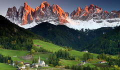 Santa Maddalena village in front of the Geisler or Odle Dolomites Group, Val di Funes, Italy, Europe (ugelcajamarca) Tags: alpine alps altoadige autumn autumncolors autumncolours church dolomite dolomiti fall famous geisler italia italian italy landmark landscape mountain nature odle peaks smaddalena sanktmagdalena santamaddalena scenery snow southtyrol stmagdalena sudtirol tourism touristic town valdifunes view village villnoess villnoesstal villnoss villnosstal wallpaper winter