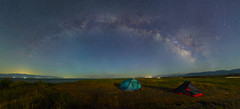 Camping on the Issuk-Kul, Kyrgyzstan (Mike Reva) Tags: astronomy astrophoto astrophotography astro cassiopea stars sky stargazing stillness samyang24 starrynight shore night nightsky nature nghtsky nightscape kyrgyzstan issukkul canon6d samyang24mm panorama