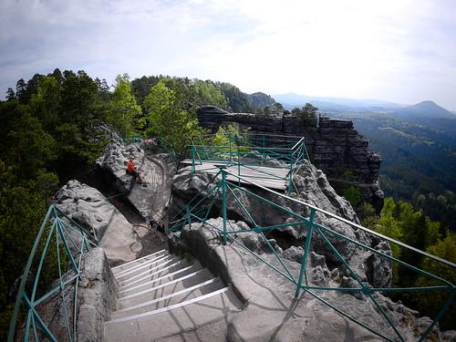 Pravčická brána widziana z punktu widokowego