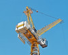 Big Yellow Crane (Song-to-the-Siren) Tags: filmcamera analogue classiccamera zenit 19 zenit19 film 35mm ektar100 kodakektar100 southcoast guildford march april 2018 crane