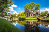 Guithoorn Dream (B.M. Dodson) Tags: cottage perfect weather reflection canal bridge water house lawn boat property summer guithoorn netherlands dutch holland cozy