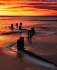 An unforgettable sunrise (Gary Eastwood) Tags: sunrise jetty groyne ndfilters longexposure nisifilters nikond750 cloudsstormssunsetssunrises clouds ocean seascape