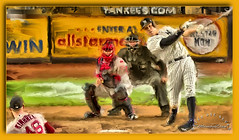 A baseball moment, Red Sox / Yankees game. Aaron Judge homer to center field. (SevenOneSeven MamboDan) Tags: newyorkyankees yankees digitalpaintingphotography digitalartphotography photoartistry creativephotography mlb amomentinbaseball baseball⚾️ redsoxvsyankeesgame homerunaaronjudge allriseforthejudge aaronjudge99