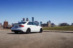 Audi S4 on TSW Mosport - 1 (tswalloywheels1) Tags: lowered white audi b8 a4 s4 audizine tsw concave monoblock mosport aftermarket wheel wheels rim rims alloy alloys gloss black